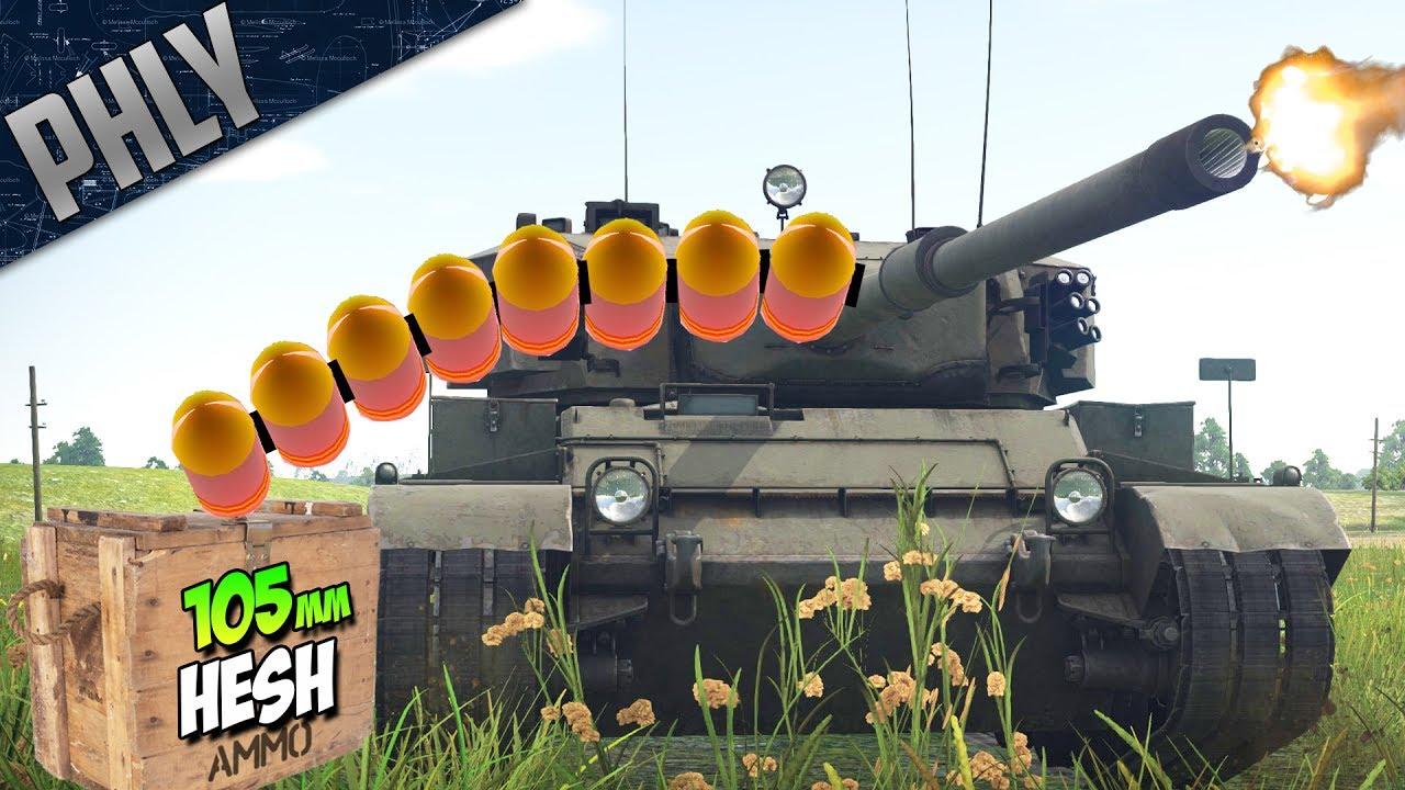 9122f2260beb HESH 105mm MACHINE GUN - Vickers MBT (War Thunder Tanks Gameplay ...