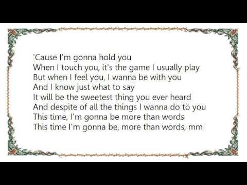 Brian McKnight - More Than Words Lyrics