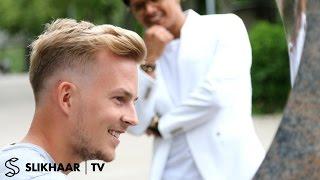barber skin fade em football player inspired razored lines men s hair