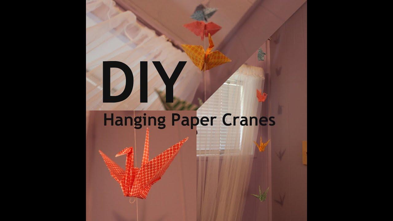 DIY Hanging Paper Cranes