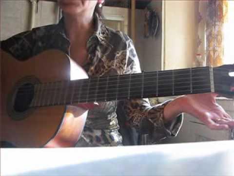 Урок на гитаре -5 с подругой на кухне:)) Виктория Юдина