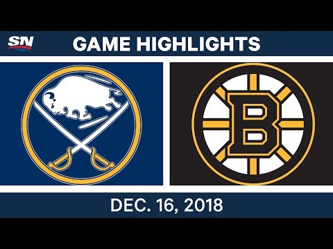 NHL Highlights | Sabres vs. Bruins - Dec 16, 2018