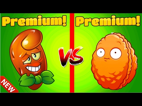 HOT DATE vs EXPLODE O NUT Plants vs Zombies 2 Premium Plants