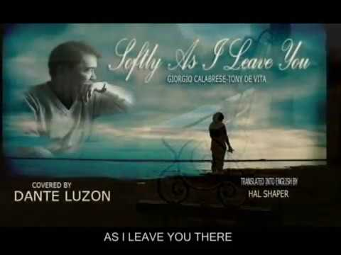 Dante Luzon sings Softly As I Leave You (Cover)
