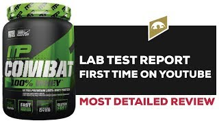 MUSCLEPHARM COMBAT WHEY PROTEIN REVIEW WITH LAB TEST REPORT || BETTER THAN ON AND DYMATIZE ?