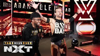 """Wrestle & Flow's"" Josiah Williams raps Adam Cole to the ring: NXT TakeOver: XXV"