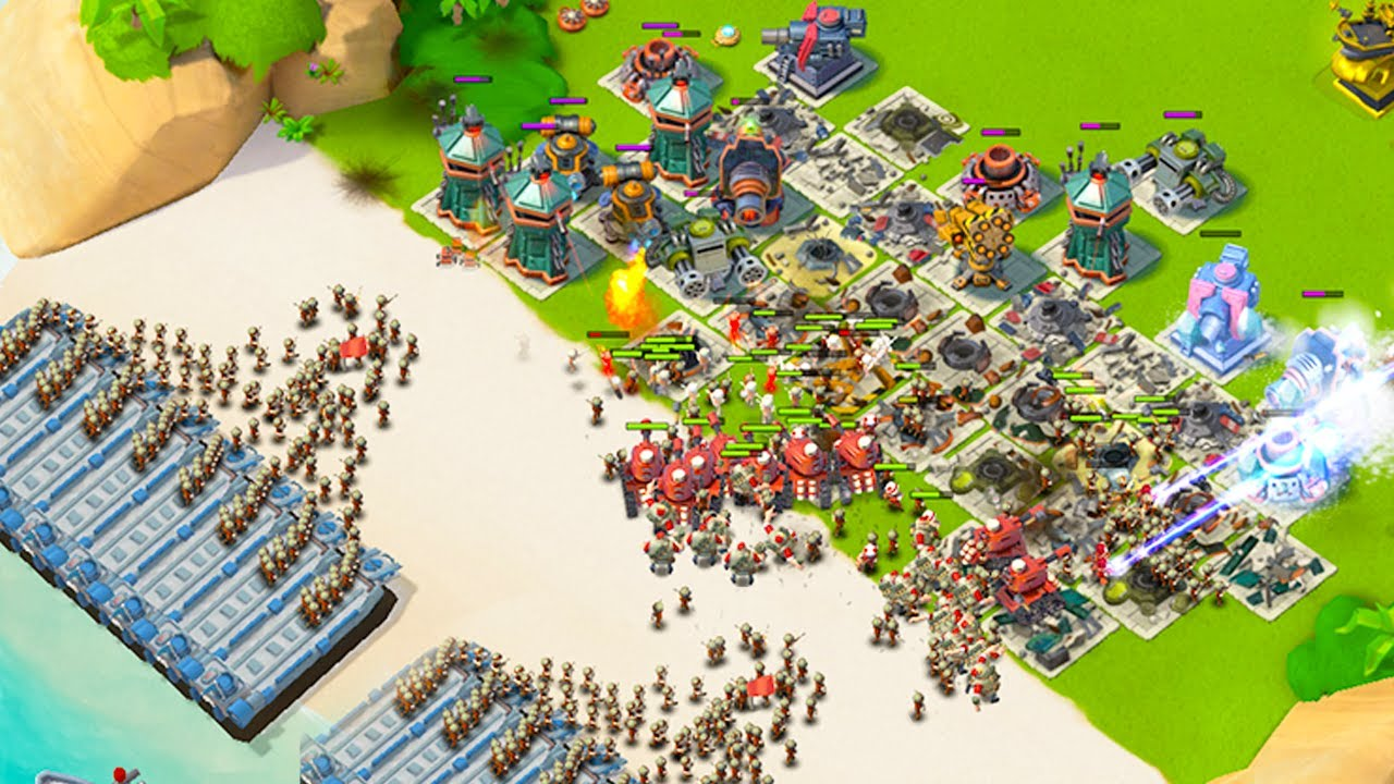 Download DEFENDING HAMMERMAN AS A MAXED BOOM BEACH PLAYER!