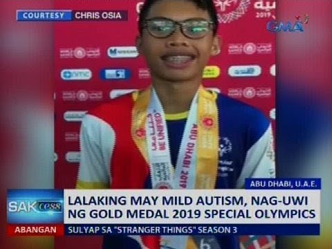 Saksi: Lalaking may mild autism, nag-uwi ng gold medal sa 2019 Special Olympics