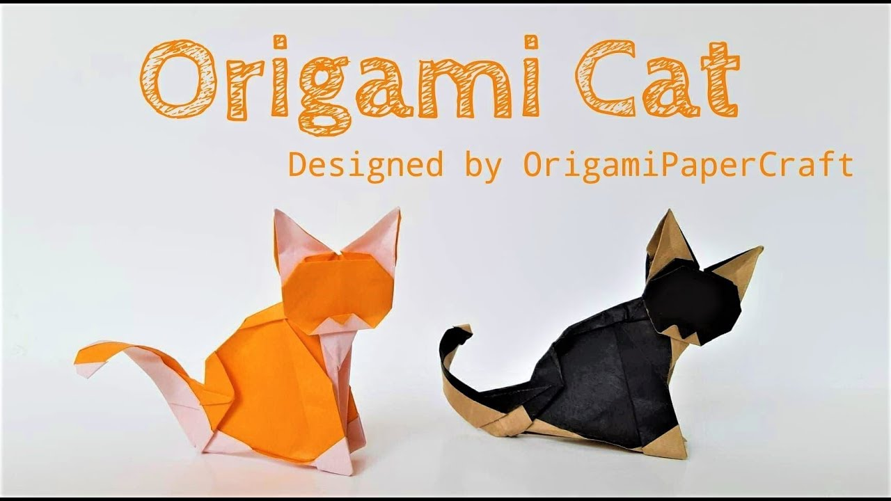 Origami Folding Instructions - How to Make an Origami Cat | 720x1280
