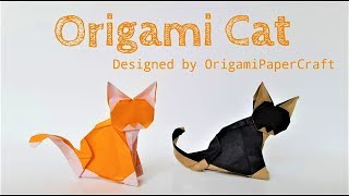 How to make an Origami Cat 🐱 By OrigamiPaperCraft