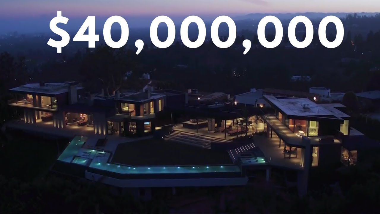 Inside $40 Million  Beverly Hills Mega Mansion
