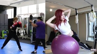 Download Video BLACKPINK HOUSE EP. 12 - 2 | CHAELISA WORK OUT MOMENTS | LISA BOXING & ROSE PILATES MP3 3GP MP4