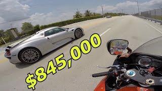 $845,000 CAR VS. $12,000 MOTORCYCLE