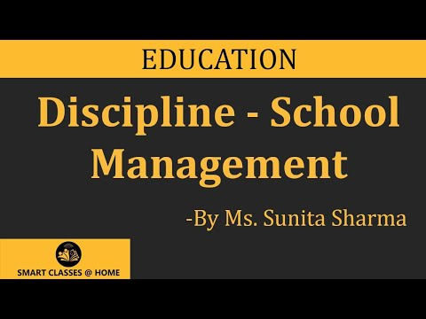 Discipline, Social Science Lecture, BEd  by Ms Sunita Sharma.