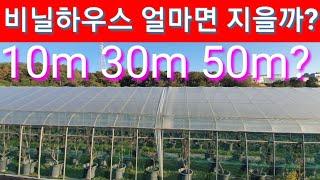 비닐 하우스 10m,30m,50m 지을때 비용은? 비닐…