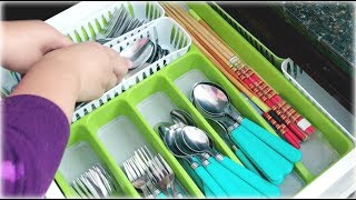7 Easy Kitchen Drawer Organization Using Dollar Tree & Other Inexpensive Organizers