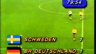 Germany v Sweden 31st MAR 1988