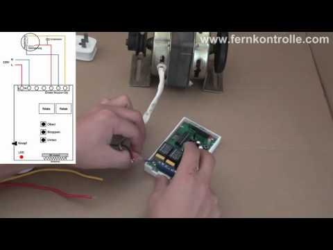 Fernbedienung von Einphasen-Kondensator Start Motor Vorwärts ...