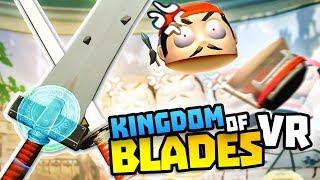 DOUBLE SWORDS SLICE TINY NINJAS IN HALF! - Kingdom of Blades Gameplay - VR HTC Vive Gameplay