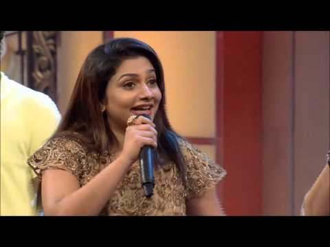 Nadirsha singing Premam Ennal Enthanu Penne on the sets of Onnum Onnum Moonu of Mazhavil Manorama