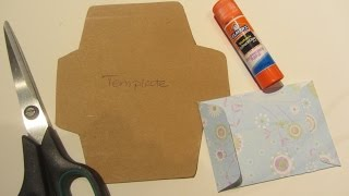 How to Make a  Gift Card Envelope with Scrapbook Paper Craft Tutorial