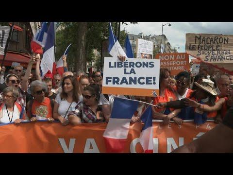 Paris : manifestation contre le pass sanitaire pour le 3e samedi consécutif | AFP