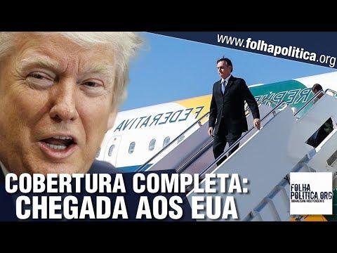 Cobertura completa da chegada do presidente Bolsonaro aos EUA: trânsito em Washington, pouso, re..