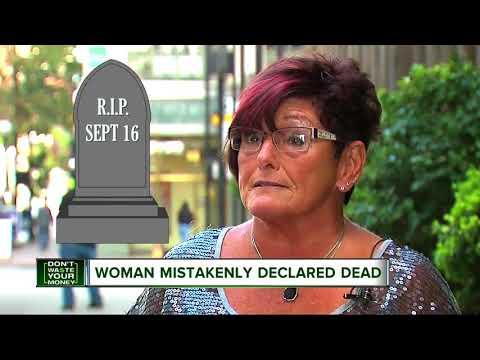 Woman mistakenly declared dead