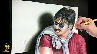 Drawing Pavan Kalyan   3D Drawing of Pavan Kalyan