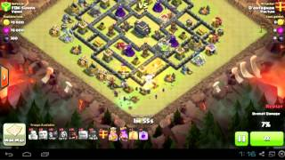 Clash of Clans Th9 3Star Gohowiwi Attack
