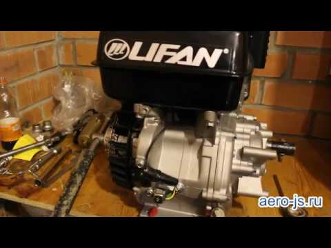 Установка электростартера и катушки освещения на двигатель LIFAN 190