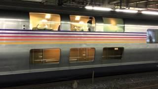 廃止直前の寝台特急カシオペアが、大宮駅に到着&発車するシーンです。E...