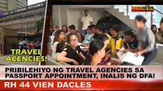 PRIBILEHIYO NG TRAVEL AGENCIES SA PASSPORT APPOINTMENT, INALIS NG DFA!