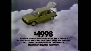 1983 Toyota Tercel commercial