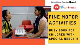 Fine Motor Activity -6(Busy Book) for Children with Special Needs | Help 4 Special