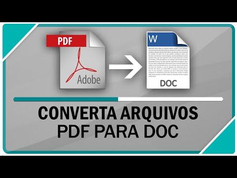 Converter arquivo .pdf para Word - Funcionando sem erros!