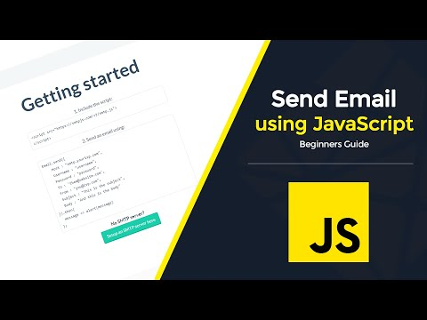 Send Email With JavaScript | Contact Form Part 3 (2020)