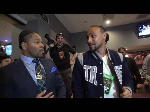 (0 to 100) Shawn Porter Confronts Keith Thurman Emotions Run High EsNews Boxing