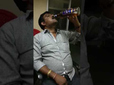 Man Drinking Black Dog
