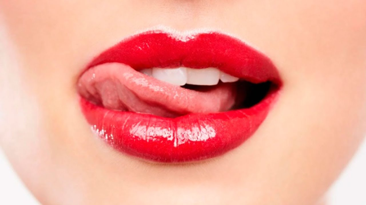 Girl Hot Lips With Red Lipstick Face Mouth Poster By Arianeart
