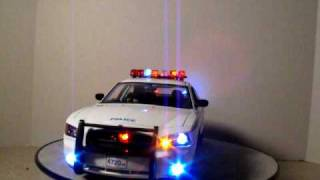 1/18 NYPD Police Charger Custom Model Car W/ Lights New York City Police Dept.