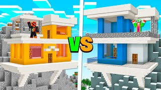 $1 MILLION HOUSE PREŠTON vs UNSPEAKABLE BUILD BATTLE!