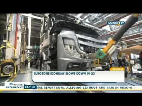 Eurozone economy slows down in Q2 - Kazakh TV