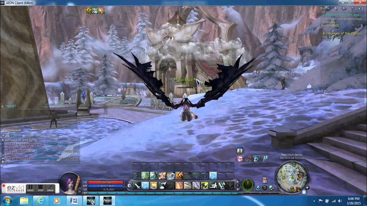 Asmodian And Elyos Flying In Aion Youtube