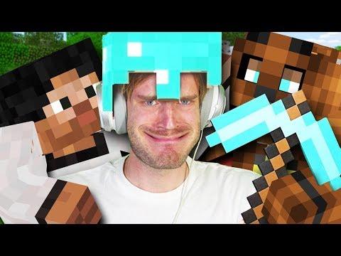 Видео: БАНДА ИГРАЕТ НА КАРТЕ ПЬЮДИПАЯ! - Обзор Карты PewDiePie Minecraft