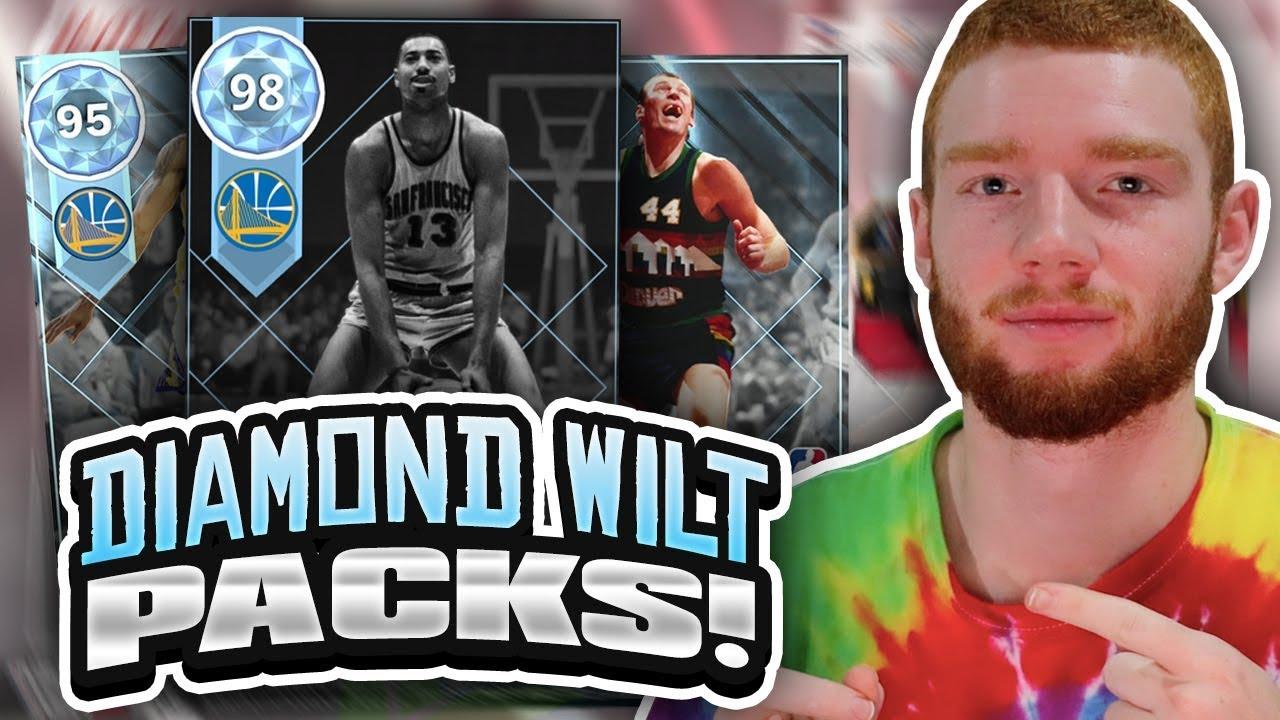 2ec50ba50c7 TWO NEW DIAMOND PULLS! WILT CHAMBERLAIN THROWBACK PLAYOFF MOMENTS PACK  OPENING!! (NBA 2K18 MYTEAM)