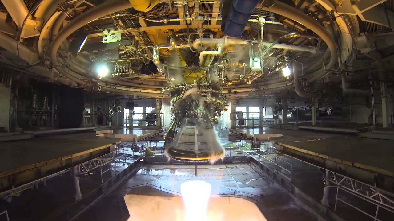 J-2X Rocket Engine Gimbal Test | NASA Stennis Space Center ...