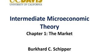 Intermediate Microeconomics - Chapter 1 The Market