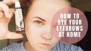 How to DYE your EYEBROWS at home? | Kristella Beauty