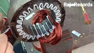 Exhaust fan motor winding 18 inch 24 slot Anticlock wise motor coil winding turn HEAVY DUTY MOTOR